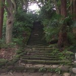 Some old stairs to the shrine