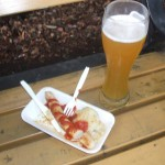 Curry Brat and Beer